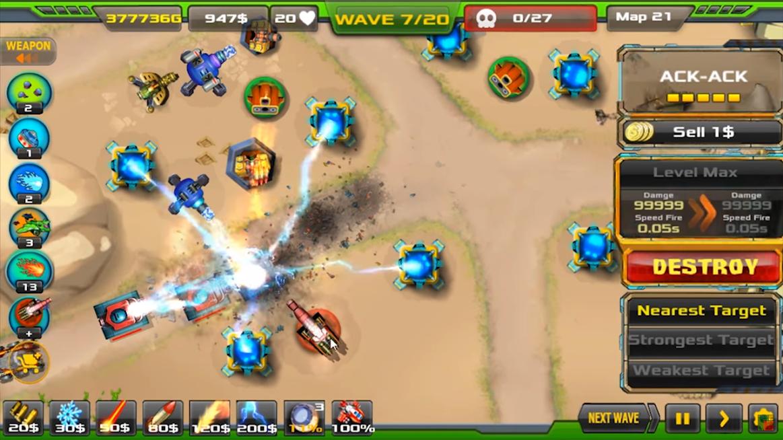 Tower Defense Alien War TD APK Mod